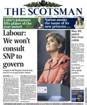The Scotsman (UK) Newspaper Front Page for 4 May 2015