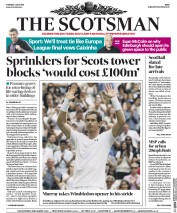The Scotsman (UK) Newspaper Front Page for 4 July 2017