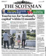 The Scotsman (UK) Newspaper Front Page for 4 July 2018