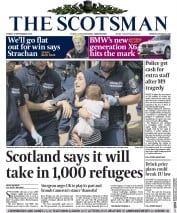 The Scotsman (UK) Newspaper Front Page for 4 September 2015