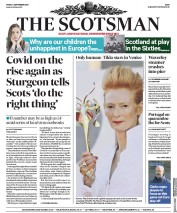 The Scotsman (UK) Newspaper Front Page for 4 September 2020