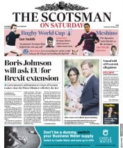 The Scotsman (UK) Newspaper Front Page for 5 October 2019