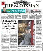 The Scotsman (UK) Newspaper Front Page for 5 November 2019