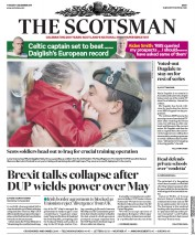The Scotsman (UK) Newspaper Front Page for 5 December 2017