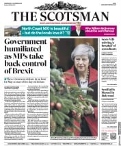 The Scotsman (UK) Newspaper Front Page for 5 December 2018