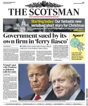 The Scotsman (UK) Newspaper Front Page for 5 December 2019