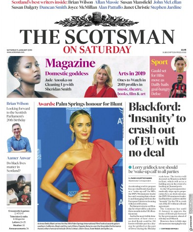 The Scotsman Newspaper Front Page (UK) for 5 January 2019