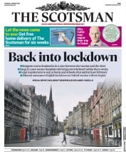 The Scotsman (UK) Newspaper Front Page for 5 January 2021