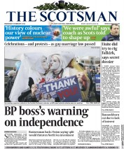 The Scotsman Newspaper Front Page (UK) for 5 February 2014