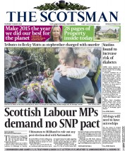 The Scotsman (UK) Newspaper Front Page for 5 March 2015
