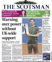 The Scotsman (UK) Newspaper Front Page for 5 May 2015
