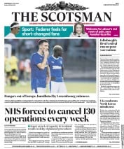 The Scotsman (UK) Newspaper Front Page for 5 July 2017
