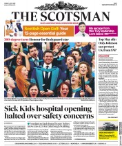 The Scotsman (UK) Newspaper Front Page for 5 July 2019