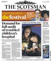 The Scotsman (UK) Newspaper Front Page for 5 August 2019