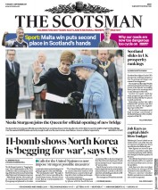 The Scotsman (UK) Newspaper Front Page for 5 September 2017
