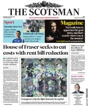 The Scotsman (UK) Newspaper Front Page for 6 January 2018
