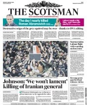 The Scotsman (UK) Newspaper Front Page for 6 January 2020