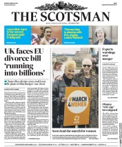 The Scotsman (UK) Newspaper Front Page for 6 March 2017
