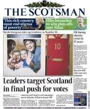 The Scotsman (UK) Newspaper Front Page for 6 May 2015
