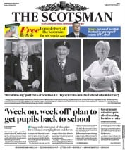 The Scotsman (UK) Newspaper Front Page for 6 May 2020