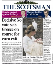 The Scotsman (UK) Newspaper Front Page for 6 July 2015