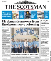 The Scotsman (UK) Newspaper Front Page for 6 July 2018