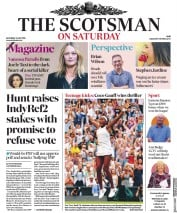The Scotsman (UK) Newspaper Front Page for 6 July 2019