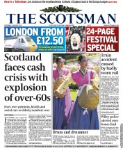 The Scotsman Newspaper Front Page (UK) for 6 August 2011