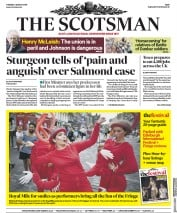 The Scotsman (UK) Newspaper Front Page for 6 August 2019