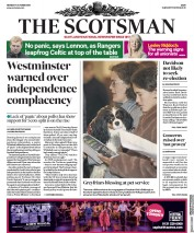 The Scotsman () Newspaper Front Page for 7 October 2019