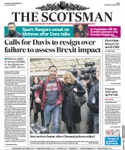 The Scotsman (UK) Newspaper Front Page for 7 December 2017