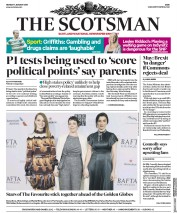 The Scotsman (UK) Newspaper Front Page for 7 January 2019