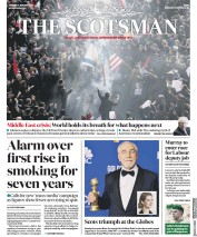 The Scotsman (UK) Newspaper Front Page for 7 January 2020