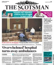 The Scotsman (UK) Newspaper Front Page for 7 January 2021