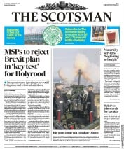 The Scotsman (UK) Newspaper Front Page for 7 February 2017