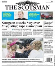 The Scotsman (UK) Newspaper Front Page for 7 April 2017