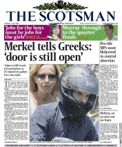 The Scotsman (UK) Newspaper Front Page for 7 July 2015