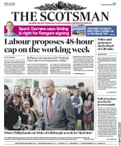 The Scotsman (UK) Newspaper Front Page for 7 July 2017