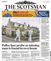 The Scotsman (UK) Newspaper Front Page for 7 August 2017