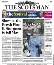 The Scotsman (UK) Newspaper Front Page for 7 August 2018