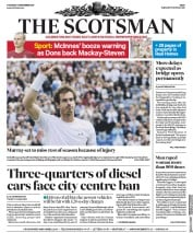 The Scotsman (UK) Newspaper Front Page for 7 September 2017