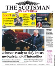 The Scotsman (UK) Newspaper Front Page for 7 September 2019