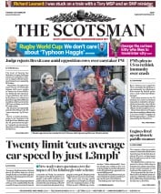 The Scotsman (UK) Newspaper Front Page for 8 October 2019