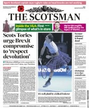 The Scotsman (UK) Newspaper Front Page for 8 November 2017