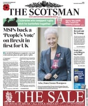 The Scotsman (UK) Newspaper Front Page for 8 November 2018