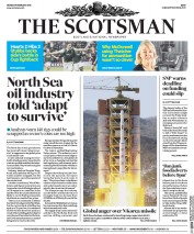 The Scotsman (UK) Newspaper Front Page for 8 February 2016