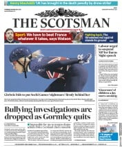 The Scotsman (UK) Newspaper Front Page for 8 February 2018