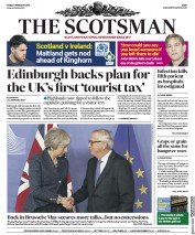 The Scotsman (UK) Newspaper Front Page for 8 February 2019