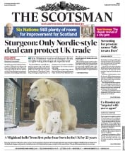 The Scotsman (UK) Newspaper Front Page for 8 March 2018