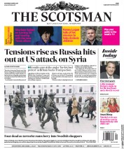 The Scotsman (UK) Newspaper Front Page for 8 April 2017